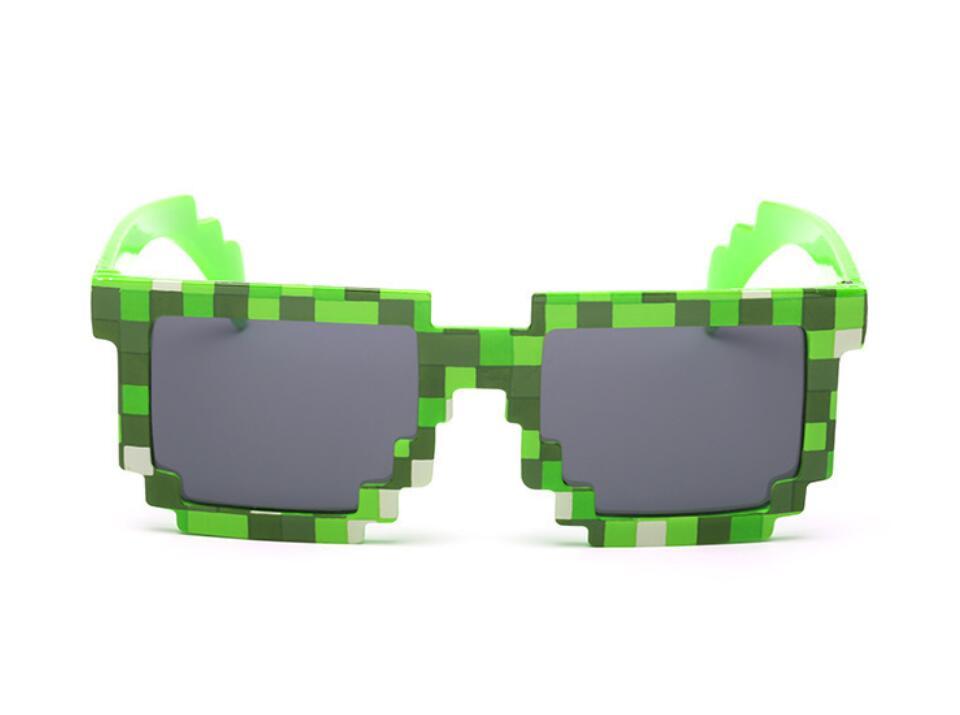 Модные солнцезащитные очки 5 цветов, детские игрушки для костюмированной игры, квадратные солнцезащитные очки для мальчиков и девочек, подарок на день рождения - Цвет: Green