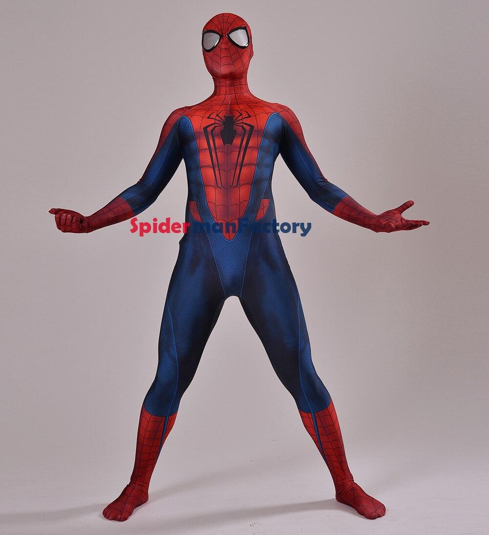 Conceito Do Traje Do Homem Aranha Vermelha E Azul 3d Imprimir