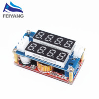 Hot 5PCS 5A Adjustable Power CC CV Step Down Charge Module LED Driver Voltmeter Ammeter Constant