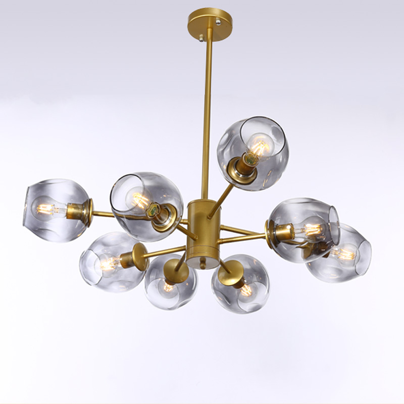 Modern Glass Chandelier Nordic Dining Room Kitchen Living Room Designer Lighting Luminaire Gold Black in Chandeliers from Lights Lighting