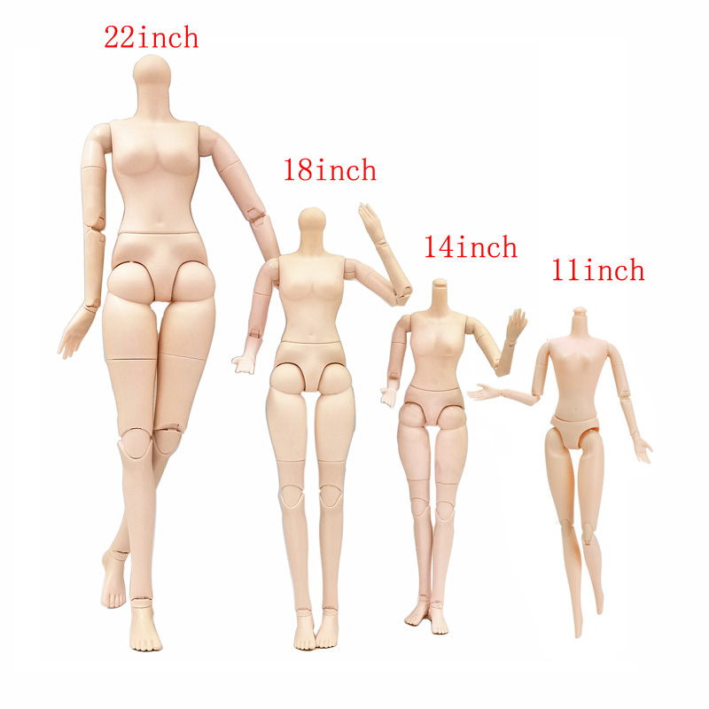 22 Moveable Joints body Female Nude Body without head for 1/3 <font><b>1/4</b></font> 1/6 <font><b>BJD</b></font> Naked Doll Body DIY Part for Girls Toys image