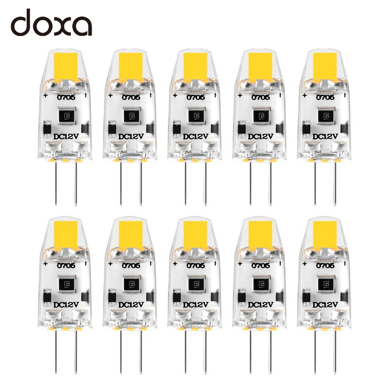 10pcs G4 LED Bulb 12V DC Dimmable COB LED G4 Lamp Lampadas Light Bulbs 360 Beam Angle No Flicker Replace 10W 15W Halogen Lamp
