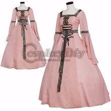 Por encargo gótico victoriano medieval fancy fiesta de carnaval cosplay dress para las mujeres adultas d0730