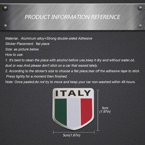 Abzeichen Italien Flagge Auto Styling Für Fiat 500 500L Panda Audi Renault Mini Cooper Benz E C BMW 3 5 aluminium Aufkleber Emblem Aufkleber