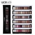 Wodwod marca tierra color sombra de ojos paleta de maquillaje de ojos glitter paleta maquiagem profissional mate pigmento de color de sombra de ojos