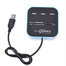 COMBO All In One USB 2.0 USB HUB Micro SD High Speed Card Reader 3 USB Ports Adapter Connector For Tablet PC Computer Laptop