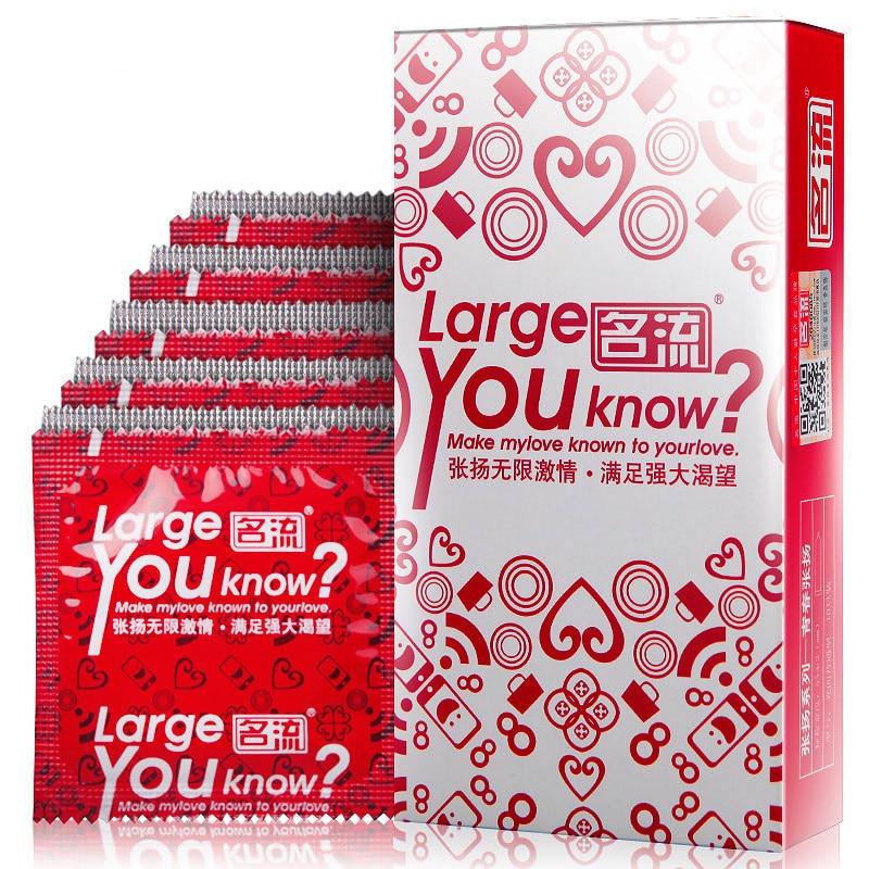 Buy 10Pcs Large Size Condom Natural Latex Big Particle Sex Condoms Sex Tool Safe Contraception Sex Products Men Sex Toys PY735a