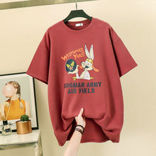 Harajuku Graphic Tees Women Clothes 2019 Summer Cotton White Aesthetic Print T Shirt Tops Streetwear Korean Long Tee Femme