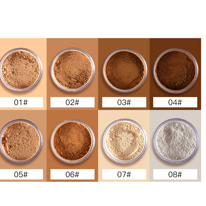 2018 New pudaier Brand Oil Control Powder Makeup Long Lasting Bronzer Matte Mineral Dark Skin Contour Loose Face Powder