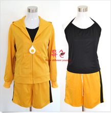 Nisemonogatari Karen Araragi Cosplay Costume Sports Suit S-XL Get 1 Free Socks Anime Free Shipping NEW