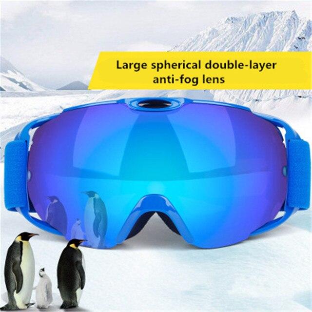 7d2cb360769 ski goggles Double Lens UV400 Anti-fog Adult Snowboard Skiing Glasses Women  Men Snow Eyewear anti-fog spherical ski glasses