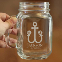 Wedding Anniversary And Birthday Party Decoration Of Mason Jar Cups Large Capacity Can Hold 450ml Liquid