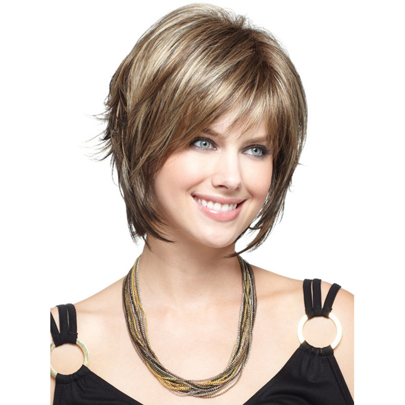 2016 New Fashion Mix Color Medium Straight Bob Hairstyle Synthetic Hair Wigs For Women free shipping main formatter board for epson pro 4800 4880c 4880 mainbard on sale