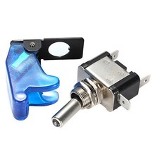 1 PC DIY Blue LED Illuminated SPST Racing Car Toggle ON/OFF Switch 12V Car Cover Toggle Switch Rocker Control VEQ28 P69