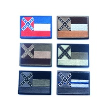 3D embroidery armband Mississippi sate flag sheepdog patch  DONT TREAD ON ME The punishment of