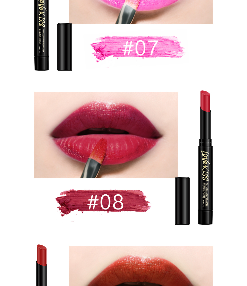 Nude Sexy Lipstick red Lipgloss Long lasting Pigment Matte Lipstick Women Fashion Makeup Cosmetic Valentine's GIFT private label 7