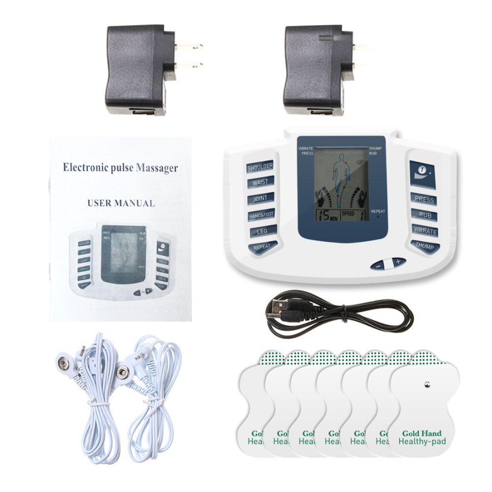 Therapy Massager 16pads Electrical Stimulator Full Body Relax Muscle Therapy Massager LCD Screen Pulse Tens Acupuncture Machine electrical stimulator full body relax muscle therapy massager massage pulse tens acupuncture health care slimming machine 16pads