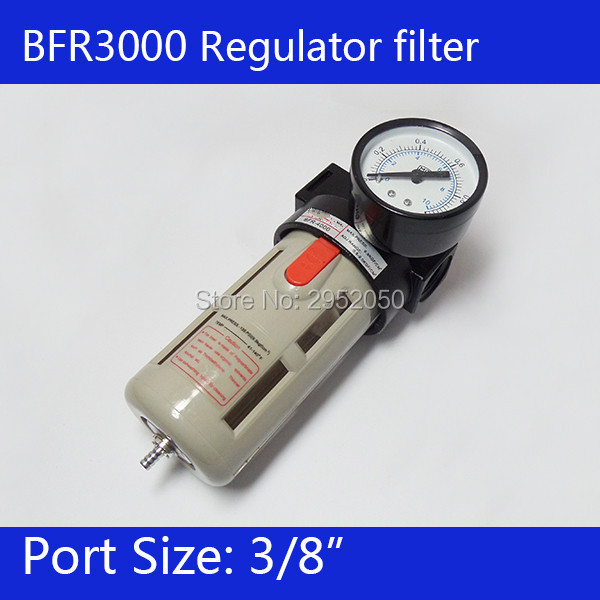 Free Shipping 3/8 Pneumatic Source Treatment Unit BFR3000 , Air Filter Pressure Regulator 1 4 bfr 2000 air source gas treatment pressure filter regulator model bfr2000 with pressure gauge
