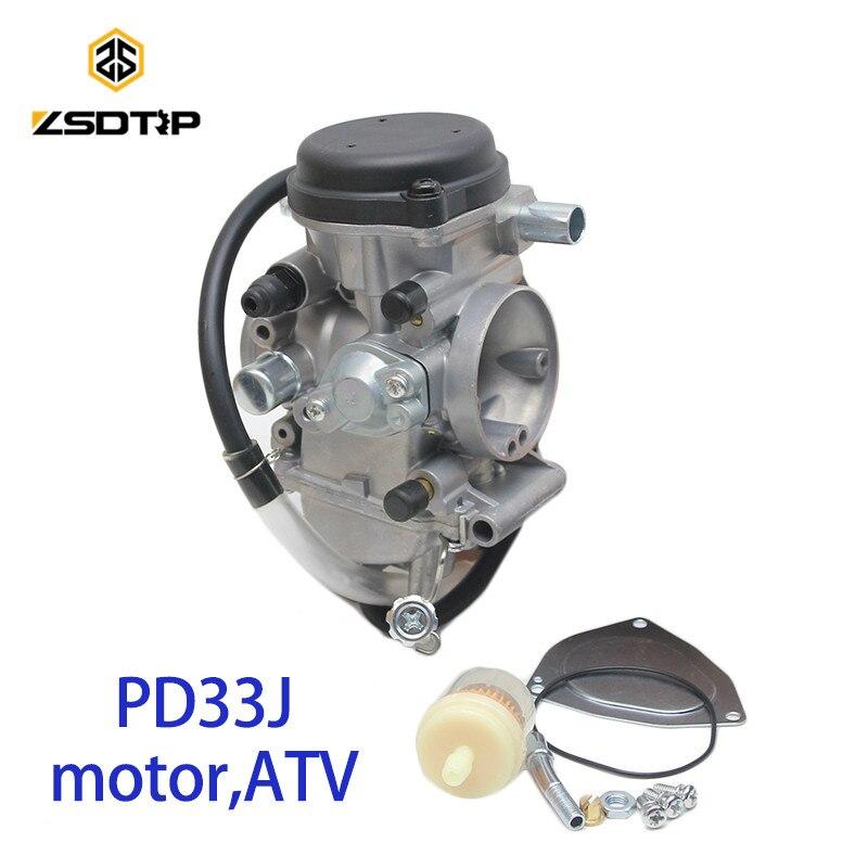 ZSDTRP PD33J 33mm Vacuum Carburetor case for Yamaha YFM400 TACTIC400 universal 300cc to 500cc racing motor free shipping zsdtrp pd42j 42mm vacuum carburetor case for yamaha honda and other 400cc to 700cc racing motor