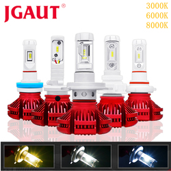 JGAUT H7 LED Car light H1 H3 H4 Fog Bulbs Automotive Lamp X3 H11 9005 9006 CSP 16000LM Headlight 3000K 6000K 8000K Blue Yellow