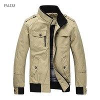 FALIZA New Casual Men Jackets Spring Autumn Bomber Jacket Men Windbreaker Jacket Mens Jackets and Coats Casacos Masculino JK101