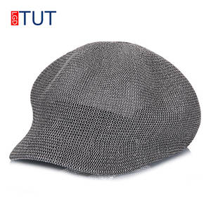 b1042348f1b 2018Spring and Summer Women s Straw Knit Straw Hats Octagonal Hat Solid  Color Cool Breathable Visor Sun Cap Women Leisure Caps