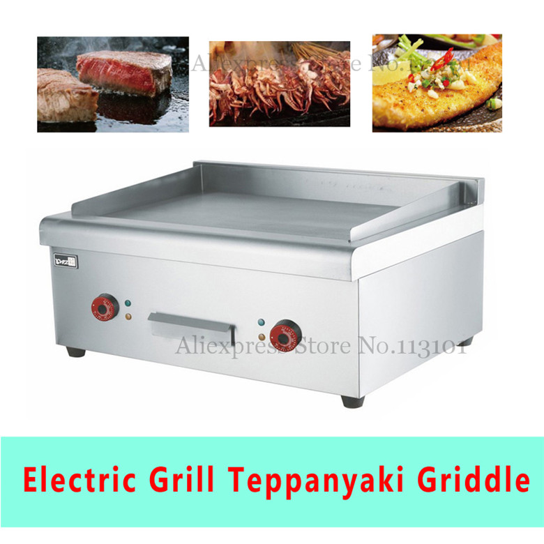 Stainless Steel Electric Grill/Griddle Upscale Teppanyaki Griddle with flat plate commerical electric grill  griddle veg 830
