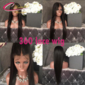 8A Grade 360 Human Hair Lace Wig Brazilian Virgin Hair Silky Straight Full Lace Front Wigs With Pre Plucked Hairline Black Women