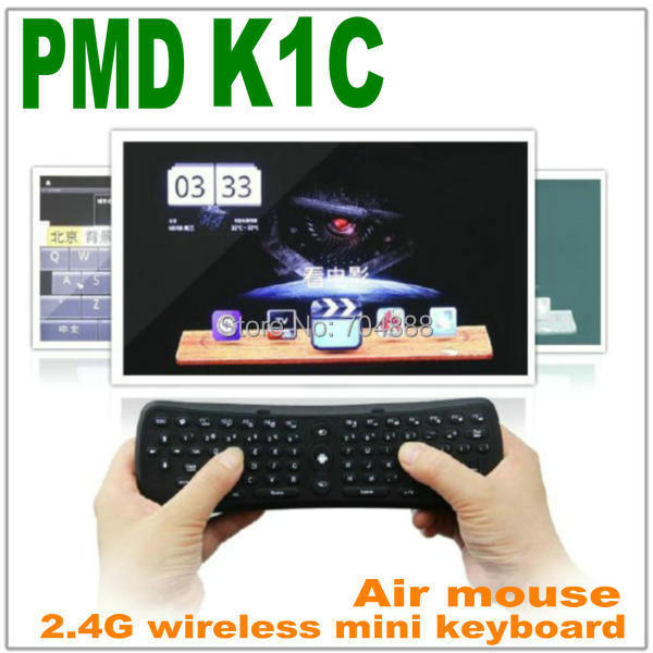 Free shipping  2.4G wireless keyboard fly air mouse for Android TV box with keyboards