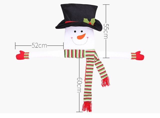 green large Outdoor snowman decoration 5c64ef1f43e07