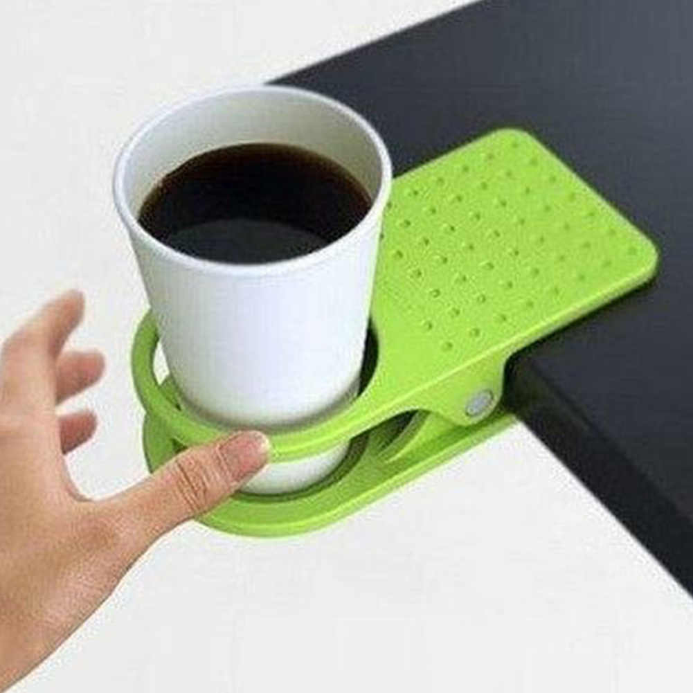 New portable 1pc ABS plastic table drink cup clip coffee mug desk lap holder for office /home