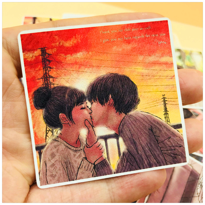 12 piezas dulces amantes románticos y abrazos y besos decoración papelería pegatina diy diario scrapbooking etiqueta adhesiva papelería