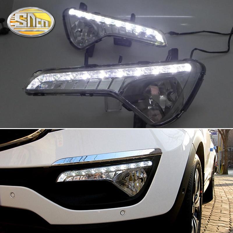 For KIA Sportage 2011 2012 2013 Daytime Running Lights Waterproof 12V LED Car light DRL fog lamp