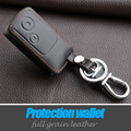 Leather Car Key Fob Protector Cover Case Holder Bag For Honda Accord Cr-V Civic Fit Freed Stepwgn Keyring Keychain Holder Case