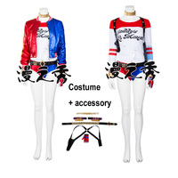 Linglong High Quality Suicide Squad Harley Quinn Cosplay Costume Set Harley Quinn Costume With Accessory