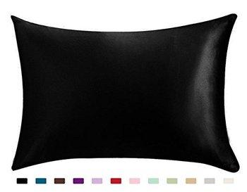 Funda de almohada 100% de satén sedoso Belleza del cabello, estándar/reina 1 ud.