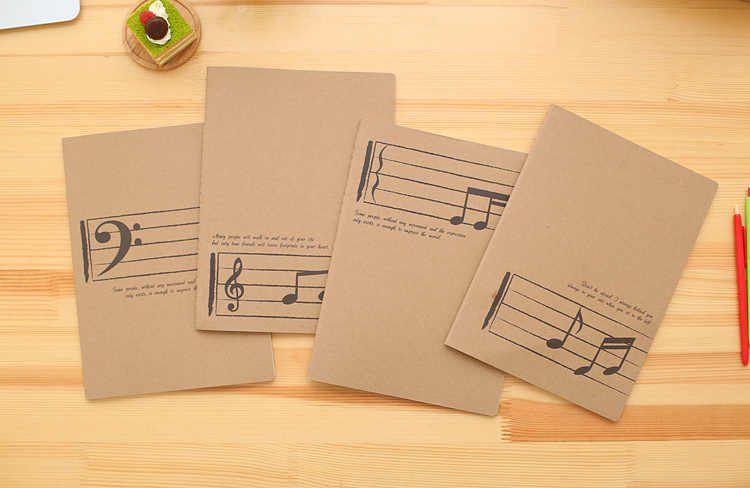 Creative Stave Notebook Music Exercise Manuscript Paper Musicians Gift #4