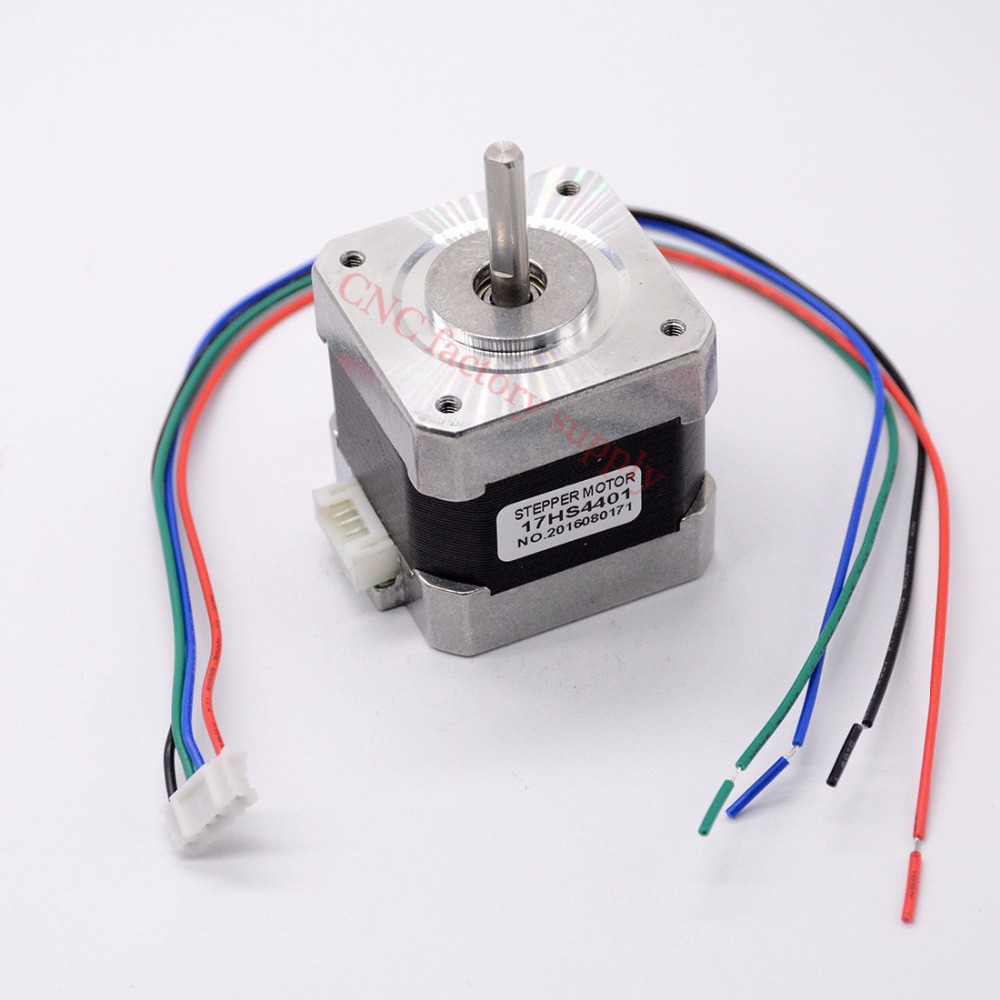 Free shipping 1pcs 4-lead Nema17 Stepper Motor 42 motor Nema 17 motor 42BYGH 1.7A (17HS4401) 3D printer motor and CNC