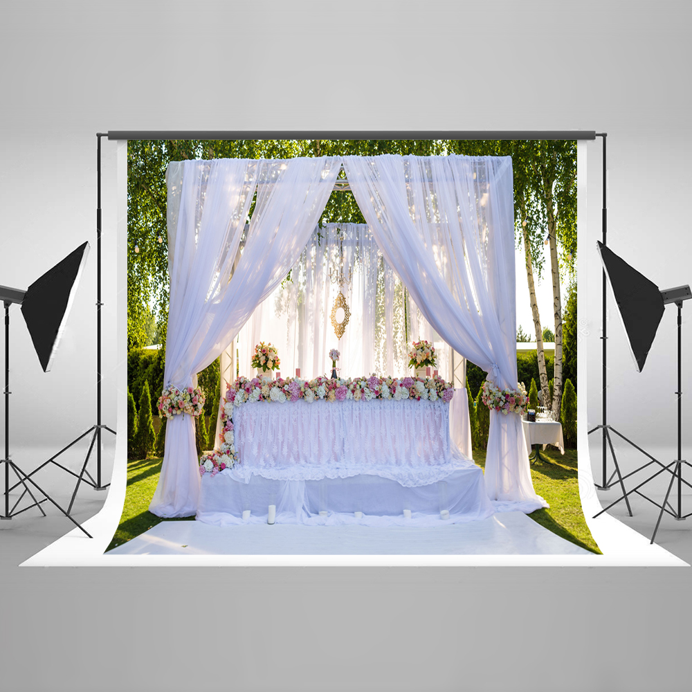 Kate White 10x10ft Photography Background Curtain Photographic Background Outdoor Party Custom Photo Backdrops сумка kate spade new york wkru2816 kate spade hanna