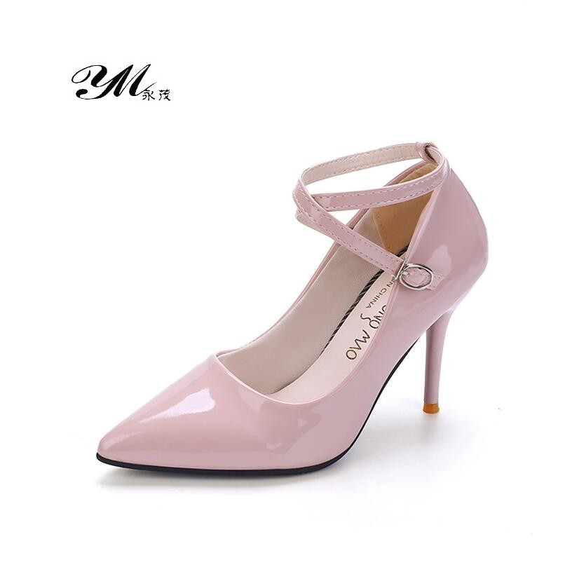 YM Spring & Autumn Fashion Lady Occupation Sexy Mature 9cm Extreme High Heels Pumps Women Wedding Banquet Tie High Heeled Shoes cicime women s shoes pure wild solid autumn summer spring classics fahion gold mature sexy wedding dress pumps