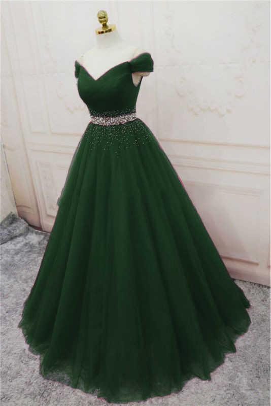 ANGELSBRIDEP/вечернее платье из тюля Vestido Longo, модное платье с v-образным вырезом, с открытыми плечами, со стразами на талии, со шнуровкой, вечернее платье знаменитостей, хит продаж