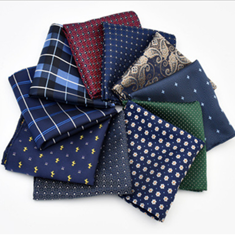 CityRaider Brand New Navy Blue Color Men's Silk Handkerchiefs For Men Pocket Square Stars Pattern Grey Wholesale VIP Link