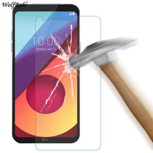2 шт. Защитное стекло для экрана для LG Q6 закаленное стекло для LG Q6 стекло для LG Q6a Q6 Plus M700N упрочненная плёнка для телефона wolfrule [