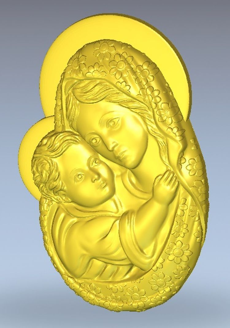 3d Model Relief  For Cnc In STL File Format Maria