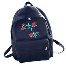 XINIU Винтаж Ретро Рюкзаки Для женщин путешествия рюкзак Обувь для девочек холст Вышивка цветы школьная сумка рюкзак #5100