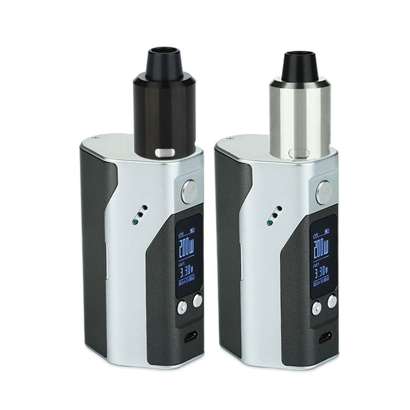 ФОТО 100% Original Great Rebuildable Dripper e-Cigs Kit with WISMEC Reuleaux RX200S 200W TC MOD & GeekVape Tsunami 24 RDA Atomizer