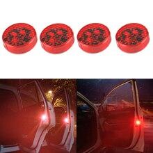 цены на 4pcs Car Door Light Anti-Collision Warning Light For Volkswagen VW Golf Passat Jetta Tiguan CC Car-styling Safety Reflector Lamp  в интернет-магазинах