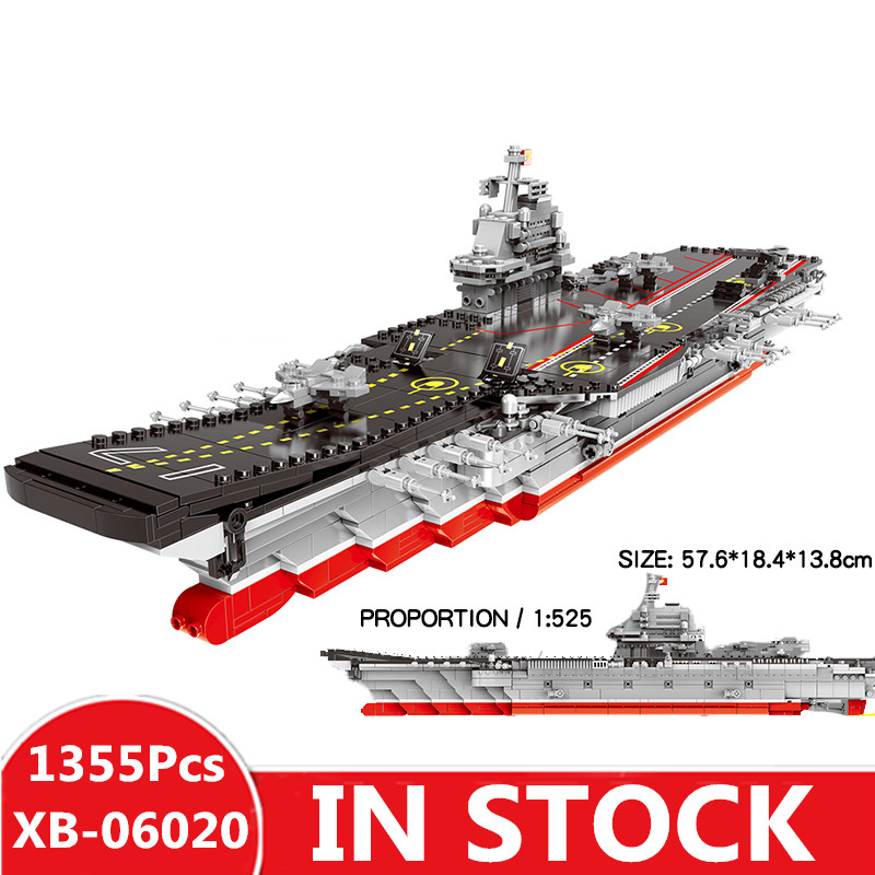 IN STOCK XINGBAO 06020 1355PCS Military Series The Aircraft Ship Set Building Blocks Bricks Toys Educational Toys Gifts Models цена