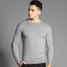 Uwback 2017 Winter Thick Warm 100% Wool Sweater Men O-Neck Men Brand Mens Sweaters Slim Fit Pullover Men Knitwear CAA244