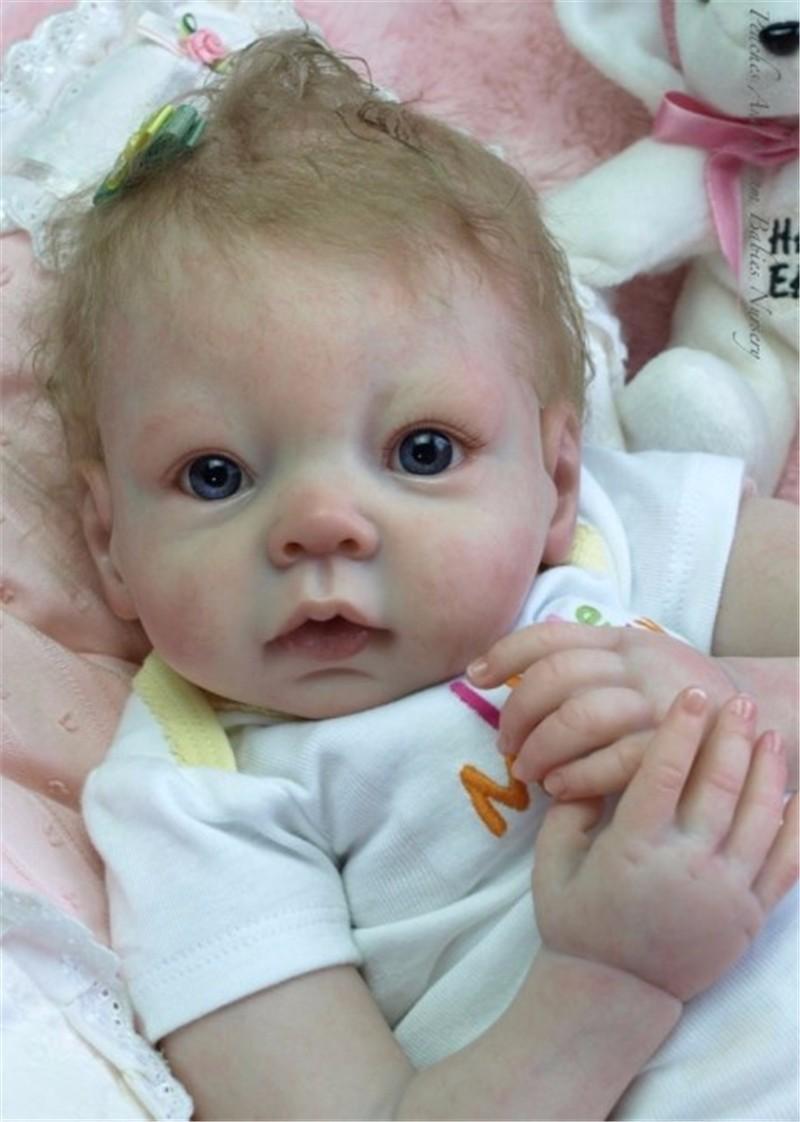 """Unlackiert 19 /""""Reborn Kits voller Körper Silikonform neugeborenes Baby Boy"""